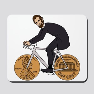 Abraham Lincoln On A Bike With Penny Whe Mousepad