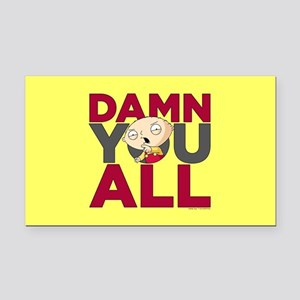 Family Guy Damn You All Rectangle Car Magnet