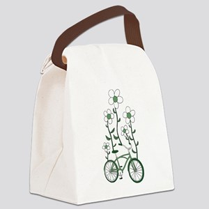Flower Bike Canvas Lunch Bag