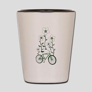 Flower Bike Shot Glass