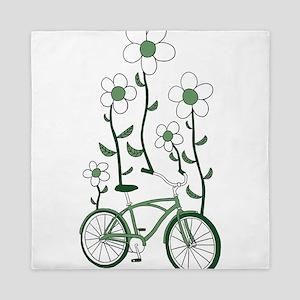 Flower Bike Queen Duvet