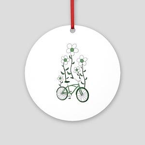 Flower Bike Round Ornament