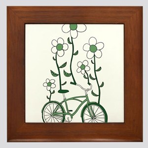 Flower Bike Framed Tile