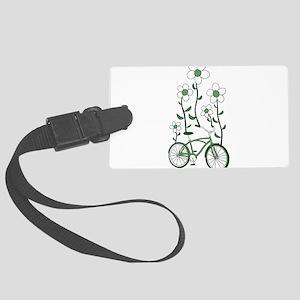 Flower Bike Large Luggage Tag
