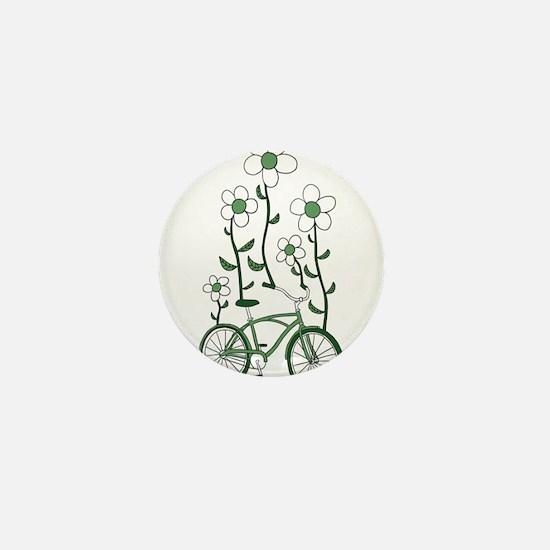 Flower Bike Mini Button