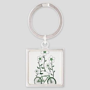 Flower Bike Keychains