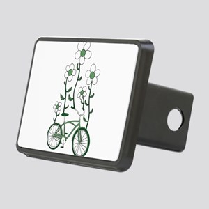 Flower Bike Rectangular Hitch Cover