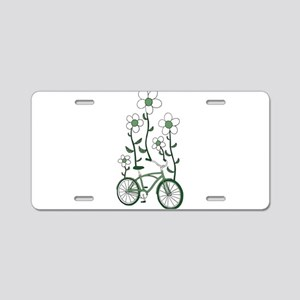Flower Bike Aluminum License Plate