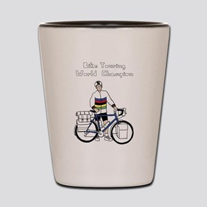 Bike Touring World Champion With Rainbo Shot Glass