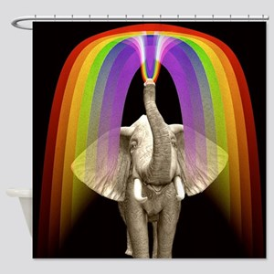 Blow Me A Rainbow Shower Curtain