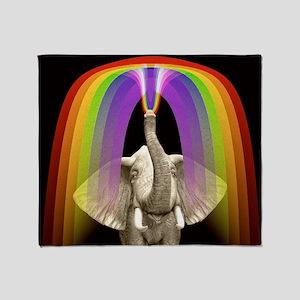 Blow Me A Rainbow Throw Blanket