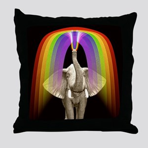 Blow Me A Rainbow Throw Pillow