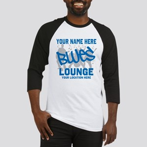 Custom Blues Lounge Baseball Jersey