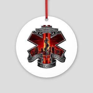 911 EMS Round Ornament