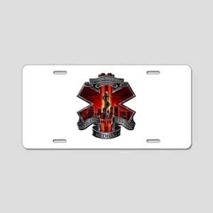 911 EMS Aluminum License Plate