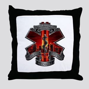 911 EMS Throw Pillow