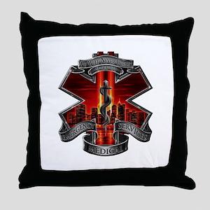 911 EMS Throw Pillow