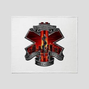 911 EMS Throw Blanket