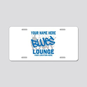 Custom Blues Lounge Aluminum License Plate