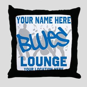 Custom Blues Lounge Throw Pillow