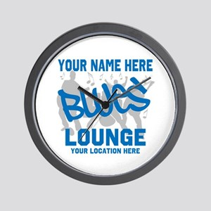 Custom Blues Lounge Wall Clock