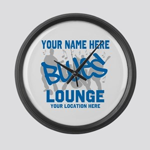 Custom Blues Lounge Large Wall Clock