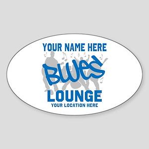 Custom Blues Lounge Sticker