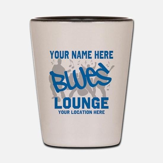 Custom Blues Lounge Shot Glass