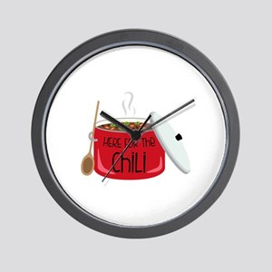 Here For Chili Wall Clock