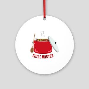 Chili Master Round Ornament