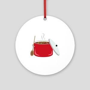 Chili Pot Round Ornament