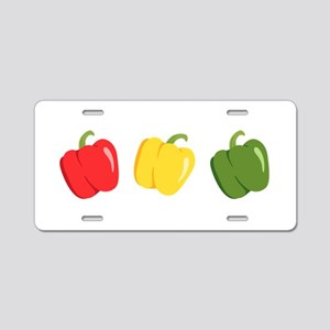 Bell Peppers Aluminum License Plate