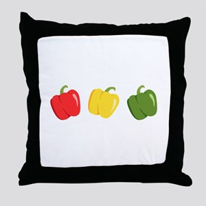 Bell Peppers Throw Pillow