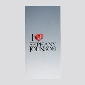 I Heart Epiphany Johnson Beach Towel
