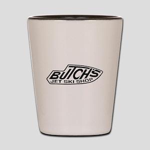 2-Butchs 3 trans white Shot Glass