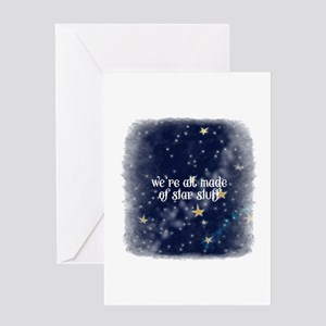 We're all made of star stuff - squa Greeting Cards