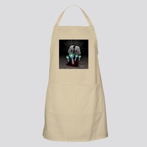 Zombies Bloody Hands on Cemetery Apron