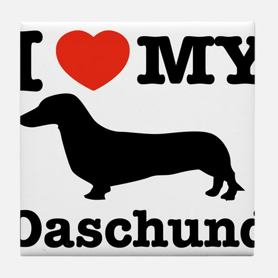 I love my Daschund Tile Coaster