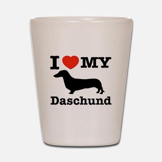 I love my Daschund Shot Glass