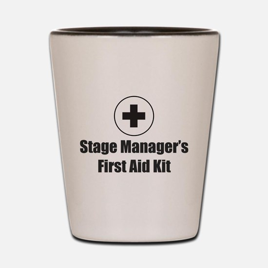 Stage Manager First Aid Kit Shot Glass