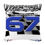 67 Musclecars Woven Throw Pillow