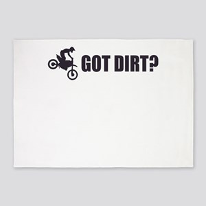 Got Dirt - Black 5'x7'Area Rug