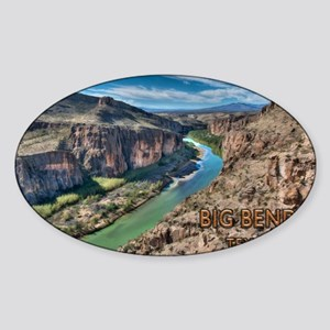 Cliff View of Big Bend Texas National Park Sticker