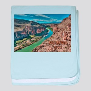 Cliff View of Big Bend Texas National baby blanket