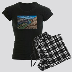 Cliff View of Big Bend Texas Women's Dark Pajamas