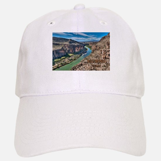 Cliff View of Big Bend Texas National Park and Baseball Baseball Cap