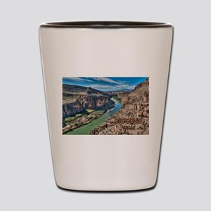 Cliff View of Big Bend Texas National P Shot Glass