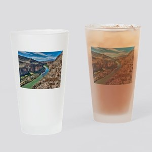 Cliff View of Big Bend Texas Nation Drinking Glass