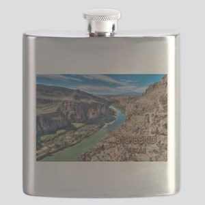 Cliff View of Big Bend Texas National Park a Flask