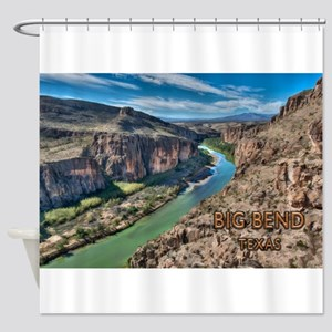 Cliff View of Big Bend Texas Nation Shower Curtain